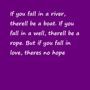 If you fall in a river