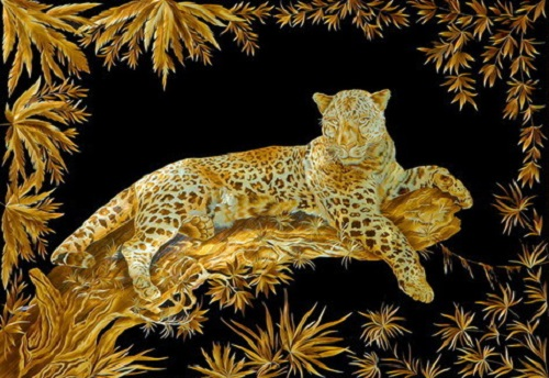Straw paintings by Russian artist Valery Kozlov