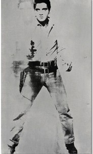 An iconic portrait of Elvis Presley by Andy Warhol, pop artist is poised to fetch as much as $50 million (32 million pounds) when it hits the Sotheby's auction block in May