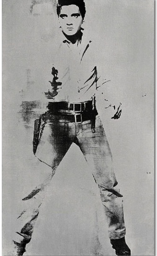 An iconic portrait of Elvis Presley by Andy Warhol