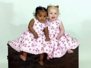 Black and white twin sisters Kian and Remee