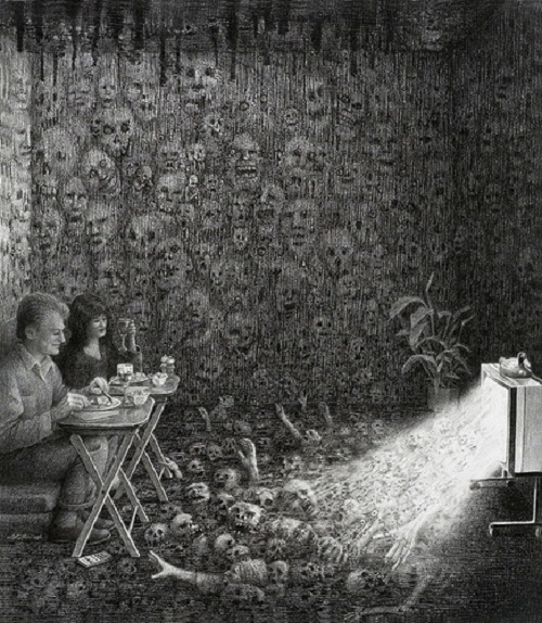 Horror program Drawings by Laurie Lipton