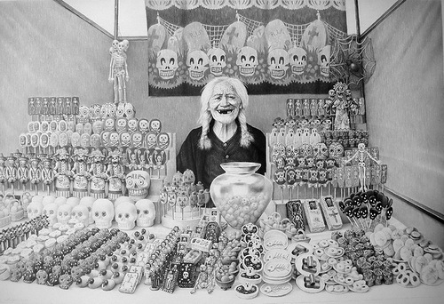 Drawing by Laurie Lipton