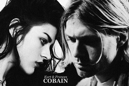 Kurt and Frances Cobain