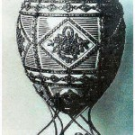 "Egg ""Memorial of Alexander III"". Made by order of the imperial court as a gift to Empress Alexandra Fyodorovna by court jeweler Carl Faberge in 1909. Surprise - a miniature bust."
