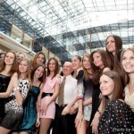 14 February 2010. Finalists of Miss Russia 2010, a rehearsal of the Eighth Viennese Ball in Moscow