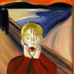"""Home Alone"" - Oil Painting - Parody of Edvard Munch's ""The Scream"""