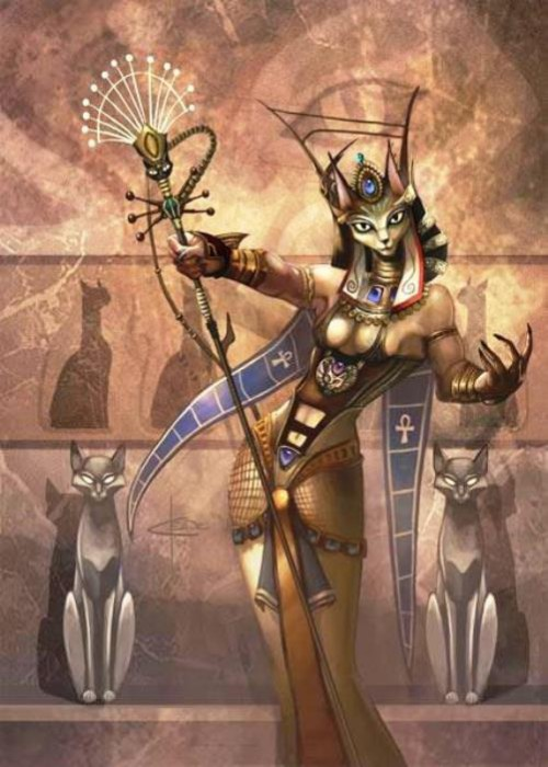 Cat-goddess Bastet