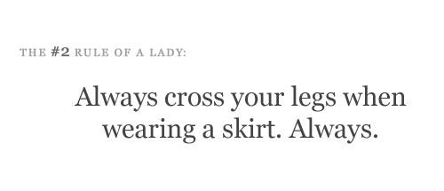 When you wear a skirt