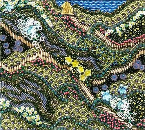 Detail of Beautiful beadwork by American artist Robin Atkins