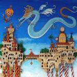 A flying dragon. Fabulous 3D paper art by Brazilian artist Marcelo Kato