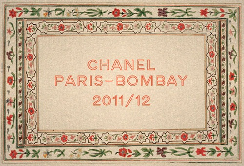 Chanel Metiers d'Art Pre-Fall 2012 Paris-Bombay Show Invitation, looks nice