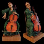 Wood carved sculpture by Fred Zavadil