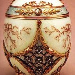 Egg- vase for sweets, made by the Imperial court jeweler Carl Faberge firm in 1899-1908
