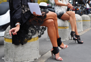 Wear high heels