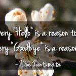 Not every good-bye is reason to cry