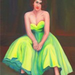 A woman in a yellow dress