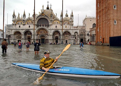 Venice is sinking 5 times faster