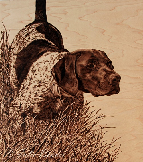 Pyrography painting by Julie Bender