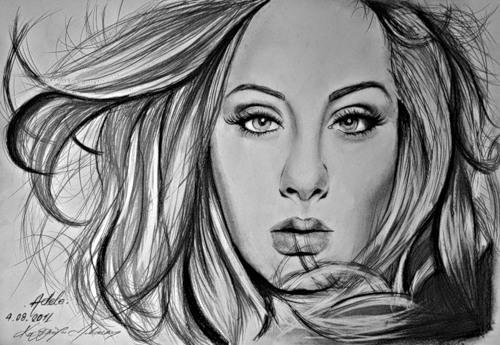 Adele Portrait by ComicManiac