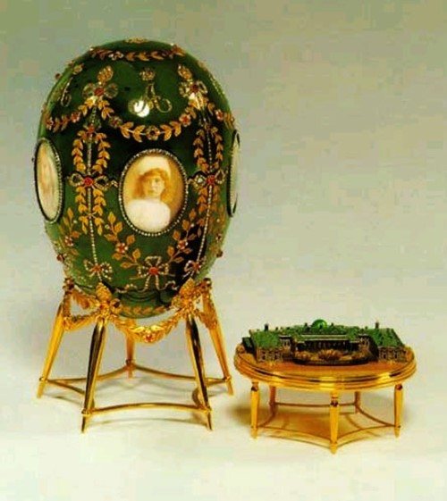 Alexander Palace egg. Russian jeweler Carl Faberge