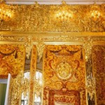 People visiting Amber Room