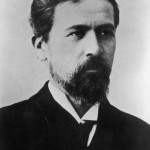 Anton Chekhov (29 January 1860 – 15 July 1904), Russian physician, dramaturge and author. Dying from Tuberculosis, his doctor had given him champagne to ease the pain. After finishing the glass, he laid down on his bed and died