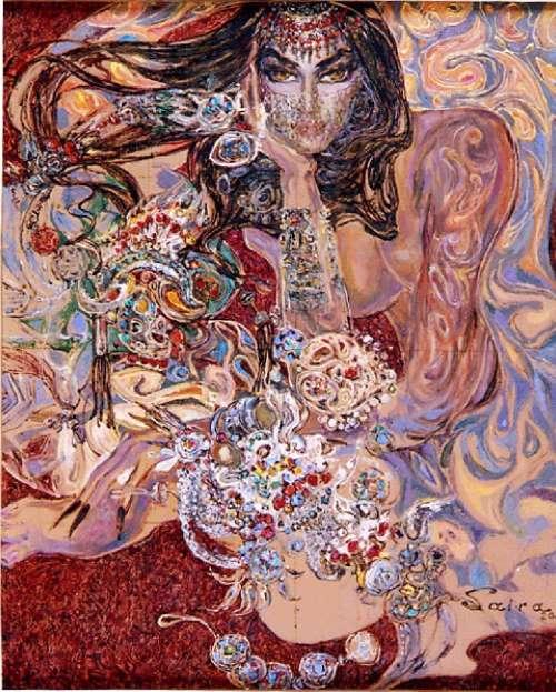 Painting by Uzbek artist Saira Keltaeva