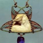 Exquisite Art Nouveau pendant by French designer Rene Lalique