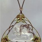 Triangle Art Nouveau pendant