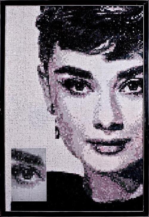 Audrey Hepburn. Mosaic portraits by Tatiana Smirnova