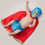 At last, the baby superhero. Photo project by American photo artist Eric Maloberti