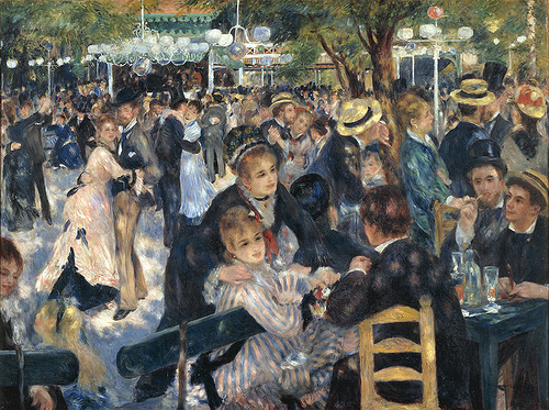 Bal du moulin de la Galette by French artist Pierre-Auguste Renoir (25 February 1841 – 3 December 1919), $136.4