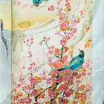 Elena Shirokova painting on silk