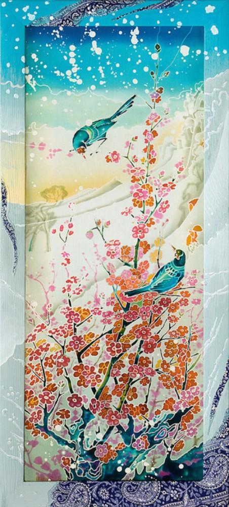 Elena Shirokova painting on silk