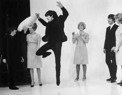 Beatles Ringo Starr (left) and John Lennon (right)