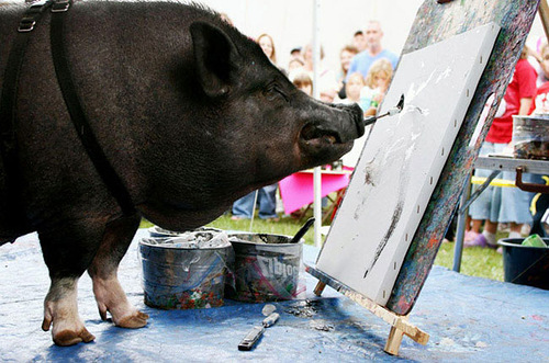 Famous Animal painters. Boar Smithfield. The cost of painting $ 50-150