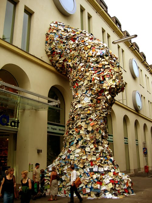 Book Towers by Alicia Martin
