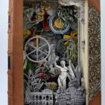 Book carving by British artist Alexander Korzer-Robinson