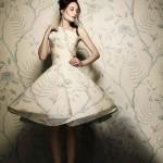 Beautiful botanical wallpaper dress created by British stylist and photographer Damian Foxe