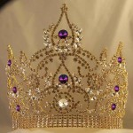 Bridal crowns with genuine Swarovski crystals