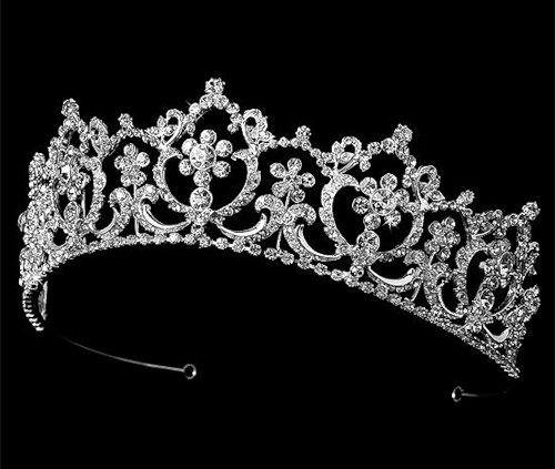 Bridal Tiara decorated with Swarovski Crystals