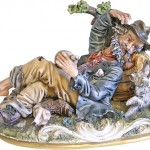 Rest in the forest. Capodimonte Finest Porcelain from Italy