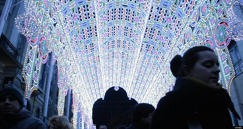 Cathedral Made from 55,000 LED Lights. 2012 Ghent Light Festival, Belgium