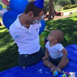 Celebrating 1st birthday of his son Kiyoshi James Vujicic