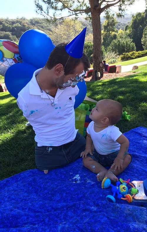Celebrating 1st birthday of his son Kiyoshi James Vujicic