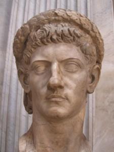 Claudius wearing a diadem of oak leaves (the civil crown). Vatican Museum.