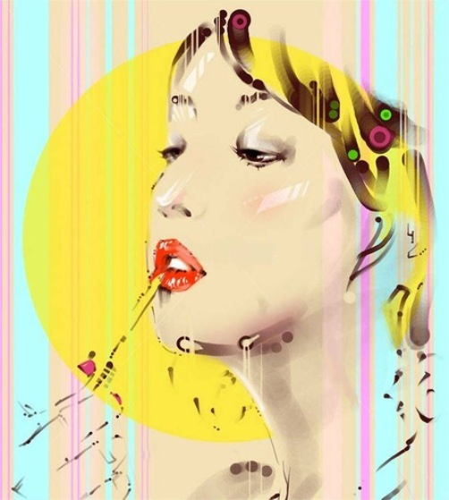 Colorful illustrations by Chinese artist Tianyin Wang