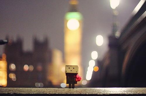 Cardboard man Danbo, photo by Anton Tang