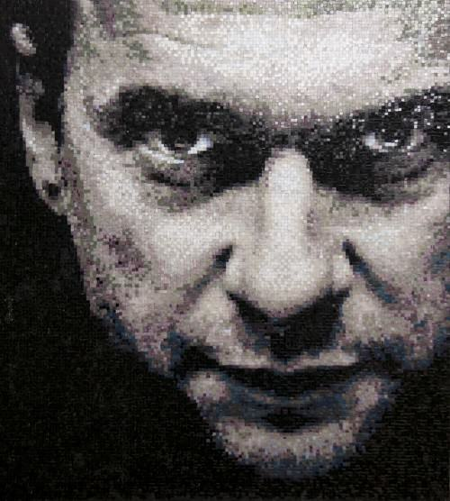 Dave Gahan Depeche Mode. Mosaic portraits by Tatiana Smirnova